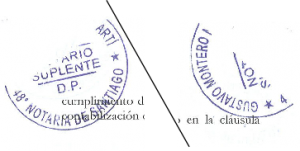 across staple notary stamp