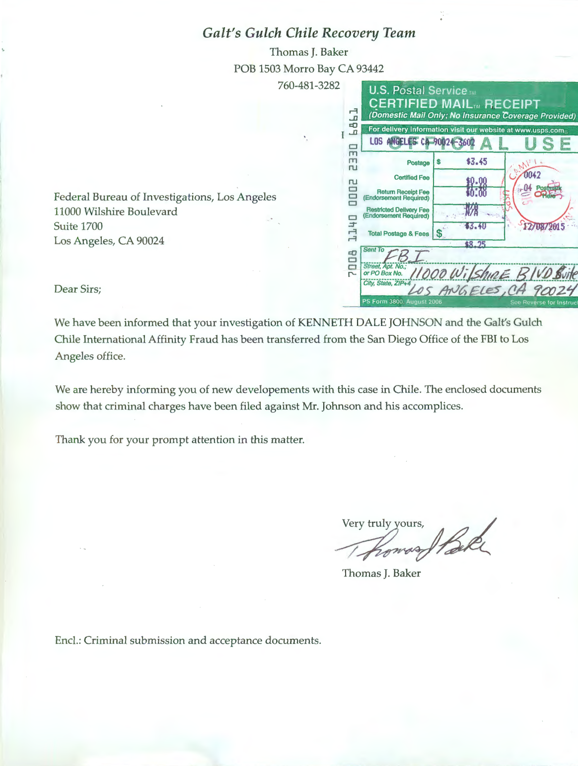 cover letter for fbi application